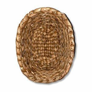 Braided Woven Rattan Small Oval Basket